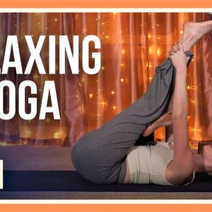 15 min Before Bed Yoga – Day #25 (FULL BODY RELAXING YOGA)