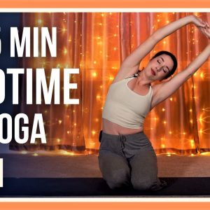 15 min Evening Yoga Class – Day #20 (RELAXING YOGA STRETCHES BEFORE BED)