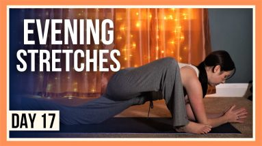 15 min Evening Yoga Flow – Day #17 (DEEP STRETCHES)