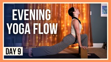 15 min Evening Yoga Flow – Day #9 (HIPS & HAMSTRINGS STRETCH)