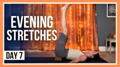 15 min Evening Yoga Stretches – Day #7 (BEDTIME YOGA FOR BEGINNERS)