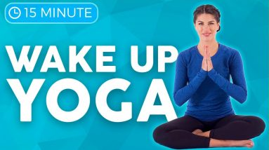 15 minute Morning Yoga Stretch Out & Wake Up | Sarah Beth Yoga