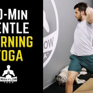 20 Minute Workout | Gentle Morning Yoga | No Floor Poses