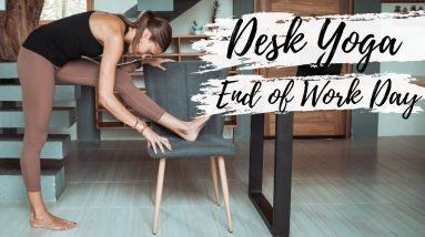 The Ultimate End of Work Office Yoga Routine (At Your Desk!) | Breathe and Flow Yoga