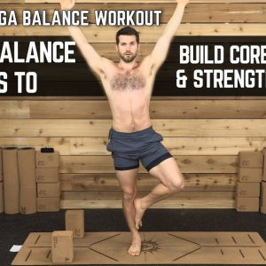 15 Minute Yoga Balance Workout | 10 Yoga Balance Poses to Build Core Strength & Ankle Mobility