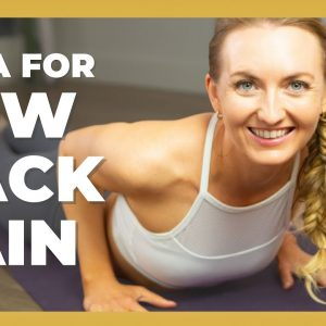 Gentle Beginner Yoga For Low Back Pain | 15-Min Yoga For Strength And Flexibility