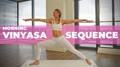 15 Min Morning Vinyasa Sequence   Deep Stretches For The Entire Body (For Beginners)