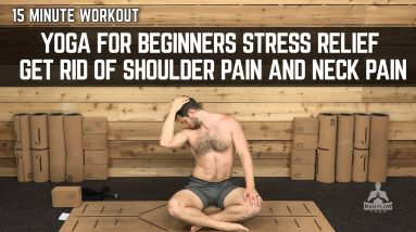 15 Minute Workout | Yoga for Beginners Stress Relief | Get Rid of Shoulder Pain and Neck Pain