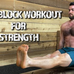 Yoga Block Workout For Strength | Floor Exercises to Build Core Strength & Improve Spine Health