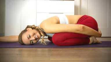 30 Min Restorative Yoga Flow For Relaxation   Abdominal Release and Pelvic Floor Healing
