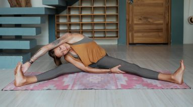 Silent Full Body Stretch Routine for Post Workout & Recovery Days | Breathe and Flow Yoga