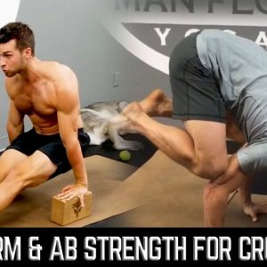 Intense Arm and Ab Workout |  Build Strength for Crow Pose and Handstands | #yogaformen