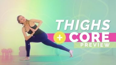 Power Yoga Flow for Core Strength and Thigh Sculpting (15-min) Core Work and Eagle Crunches