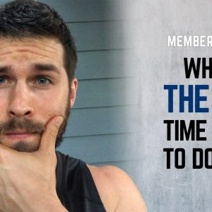 When Is The Best Time of Day To Do Yoga? | Weekly Questions From Man Flow Yoga Members | #yogaformen