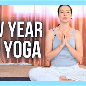 1 hour NEW YEAR Intention Setting Yin Yoga & Affirmations - NO PROPS YIN