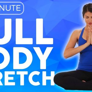 10 minute Full Body Yoga Stretch IN BED (all levels) | Sarah Beth Yoga