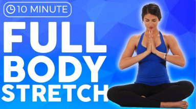 10 minute Full Body Yoga Stretch IN BED (all levels)   Sarah Beth Yoga