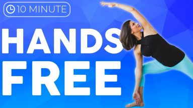 10 minute Hands Free Standing Yoga Stretches | Sarah Beth Yoga