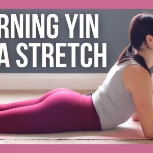 15 min Morning Yin Yoga Stretch for Beginners - NO PROPS (with Cleo!)