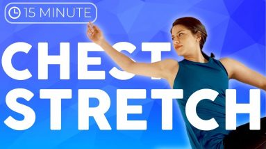 15 minute Bedtime Yoga Stretch for Chest & Back | Sarah Beth Yoga