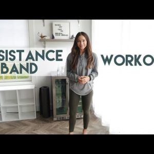10 Minute Resistance Band Legs and Glute Workout in Partnership with NewAir® Home Appliances
