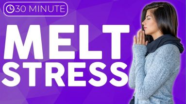 30 minute Stress Relief Yin Yoga to MELT Troubles & Tension | Sarah Beth Yoga