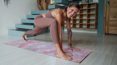 Silent Full Body Morning Stretch Yoga for Athletes for Flexibility | Breathe and Flow Yoga