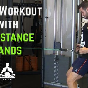 Back Workout with Resistance Bands | Pulling Exercises Without Weights |#yogaformen