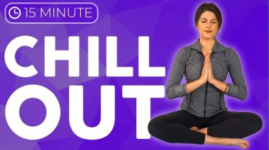 15 minute Slow Yoga Stretches 💙 CHILL OUT with Intention | Sarah Beth Yoga