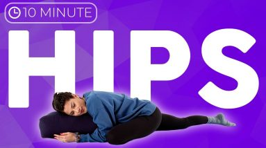 10 minute DEEP STRETCH Yoga for Hips | Extra Long Half Pigeon Stretches