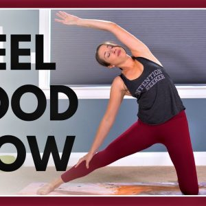 Intermediate Yoga Flow to FEEL GOOD (with kittens!)